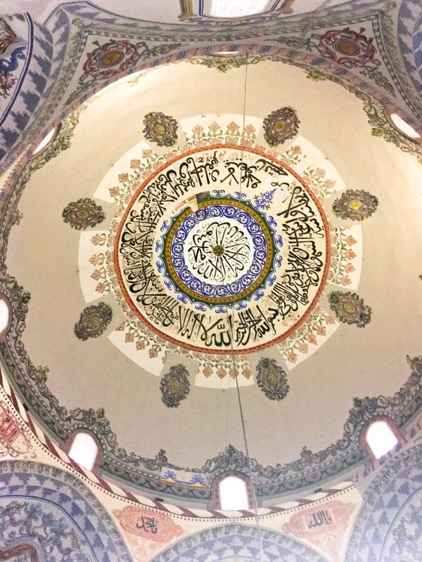 Photo of Sinan Pasha Mosque in Kosovo. See the beautiful paintings in the Sinan Pasha Mosque.