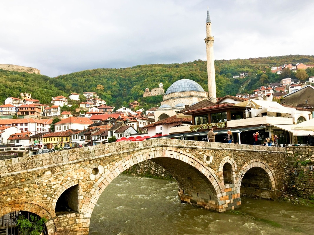 The beautiful Old Stone Bridge of Prizren. See more beautiful photos from Prizren with photos to inspire wanderlust!