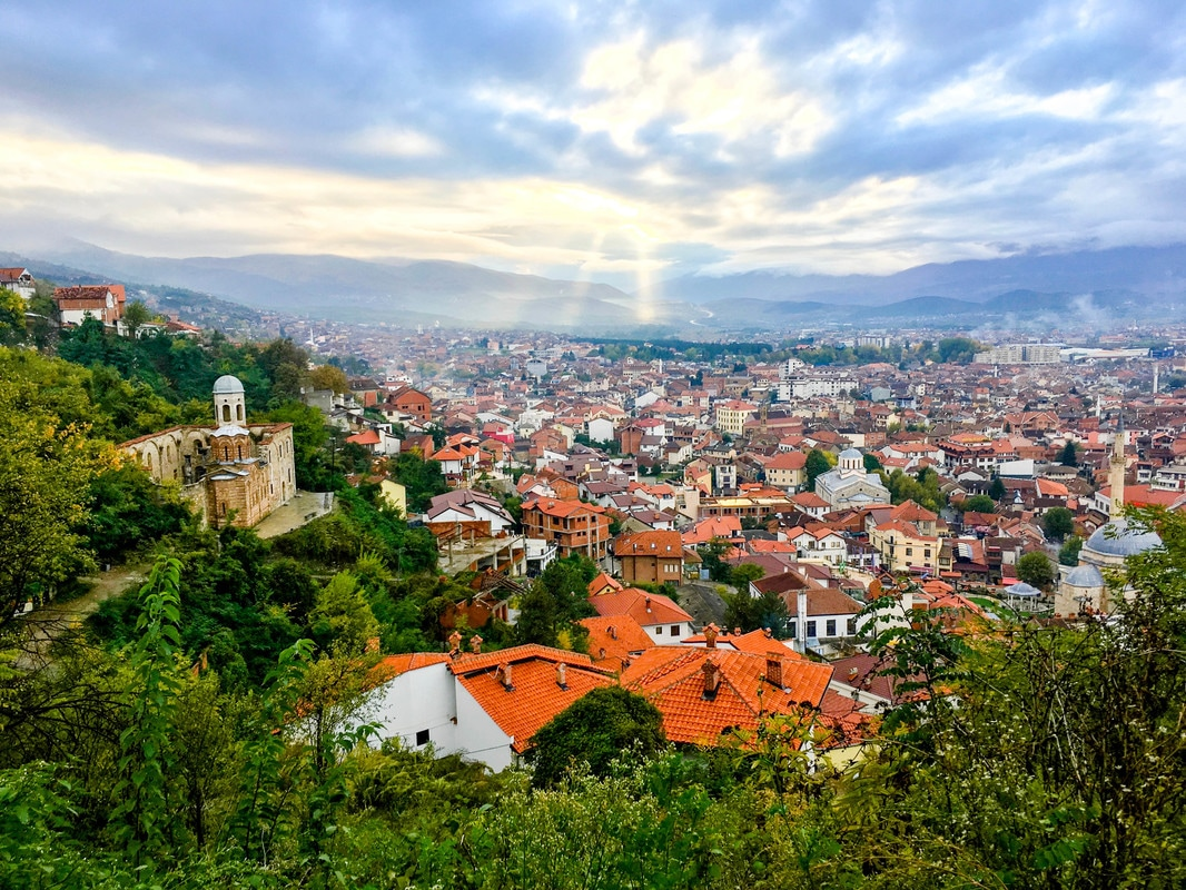 Beautiful view from Kalaja e Prizrenit in Prizren Kosovo. See the best place to take photos in Prizren and more beautiful photos of Prizren Kosovo