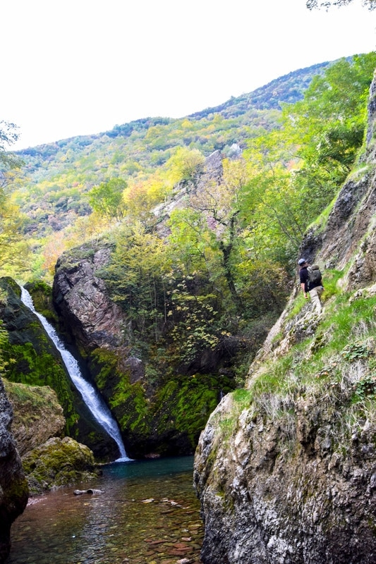 Beautiful waterfall in Peja Kosovo. Discover more beautiful places in Kosovo via beautiful photos! #Kosovo #waterfall #Peja #balkans