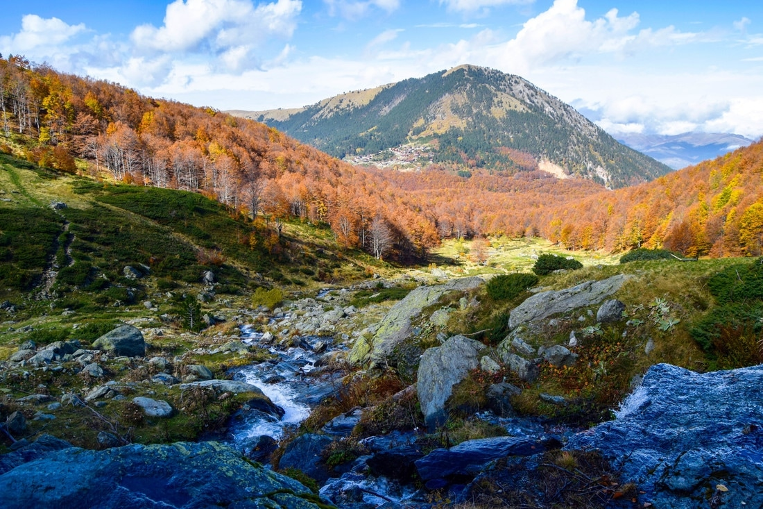 Photo of mountain stream in Sar Mountains in Kosovo. See more beautiful Kosovo photos and inspiration to visit Kosovo.