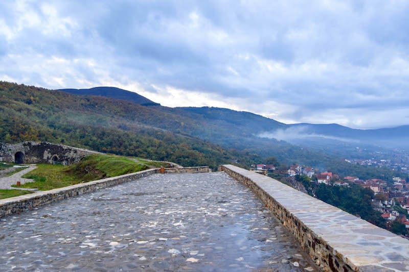 Mountains from Prizren Fortress. See the best tourist attraction in Prizren with beautiful photos of Prizren Kosovo.