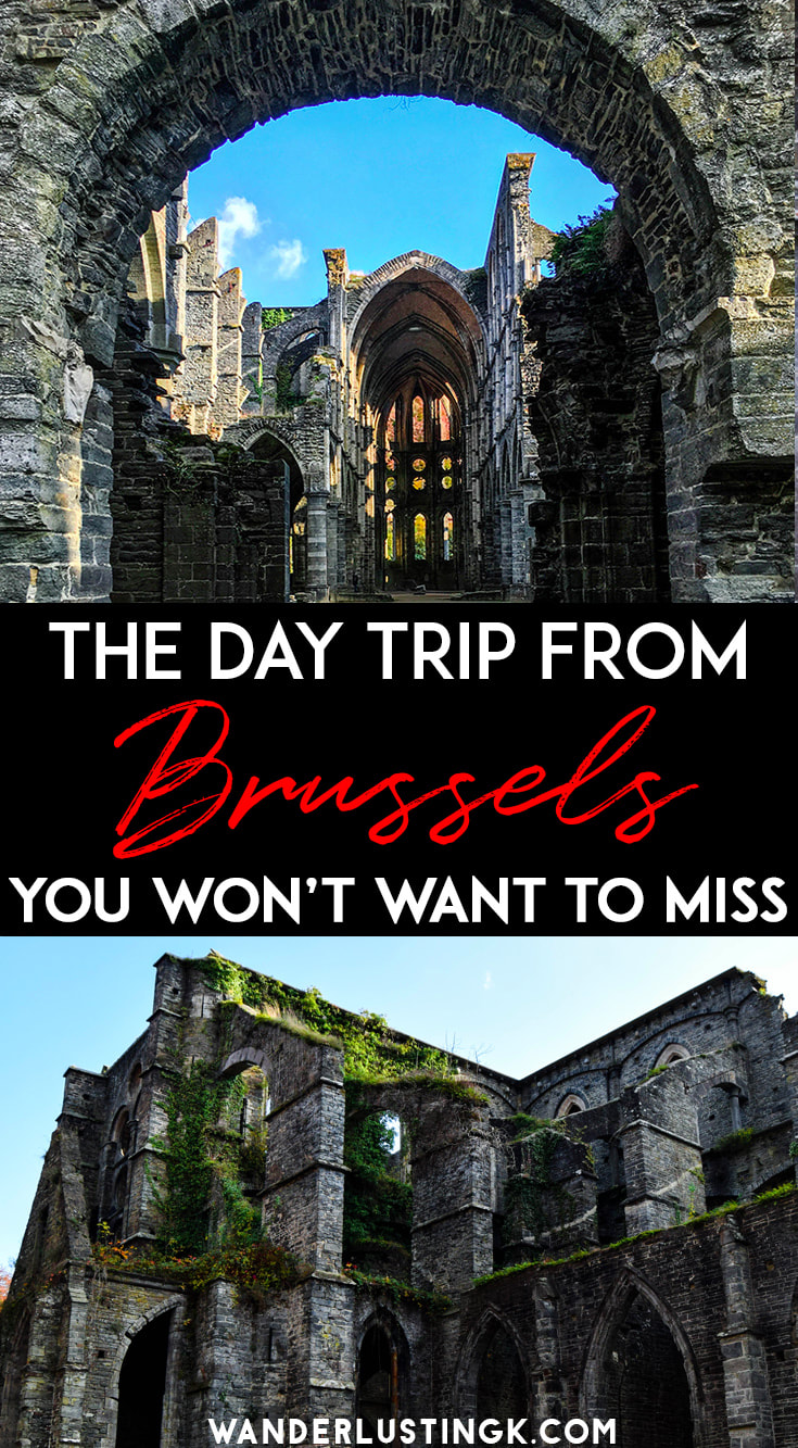 Looking for the perfect day trip from Brussels? Visit Abbaye de Villers, a beautiful abbey an hour from Brussels. #Brussels #Belgium #Travel