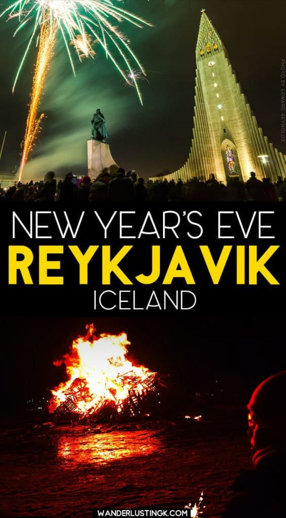 Planning to spend New Year's Eve in Reykjavik? Tips for visiting Iceland for New Year's Eve! #Reykjavik #Iceland #NewYearsEve #NYE