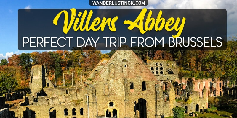 Looking for nice day trips from Brussels?  Visit Villers Abbey (Abbaye de Villers), only one hour from Brussel & one of the best things to see in Belgium!