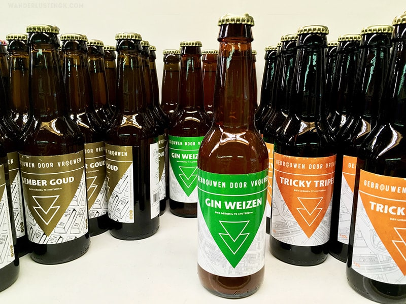 Photo of Gebrouwen Door Vrouwen beers. Find out the best microbreweries in Amsterdam and the best bars in Amsterdam.
