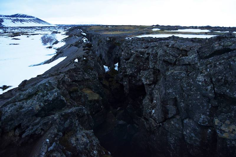 Rock surrounding Grjotagja caves in Iceland. Find out why you need to visit Lake Myvatn for game of thrones.
