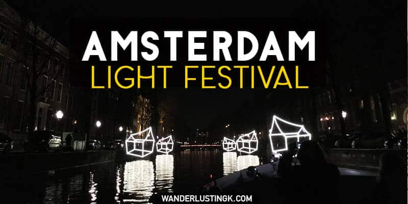 If you'll be visiting Amsterdam in December or January, don't miss the Amsterdam Light Festival, a free annual art festival in Amsterdam in winter.
