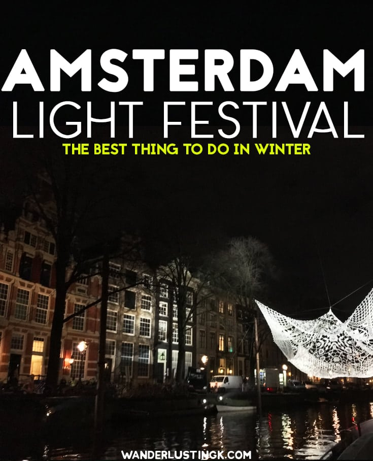 Planning a trip to Amsterdam in winter? Amsterdam Light Festival is the BEST thing to do in December in Amsterdam. #Amsterdam #winter #travel