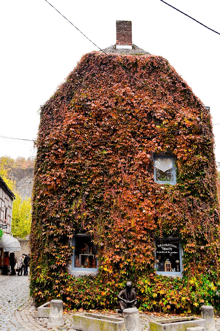 Beautiful vine covered building in Durbuy Belgium. Discover why you should visit the Ardennes in Southern Belgium! #Belgium #Wallonia #Travel #Europe