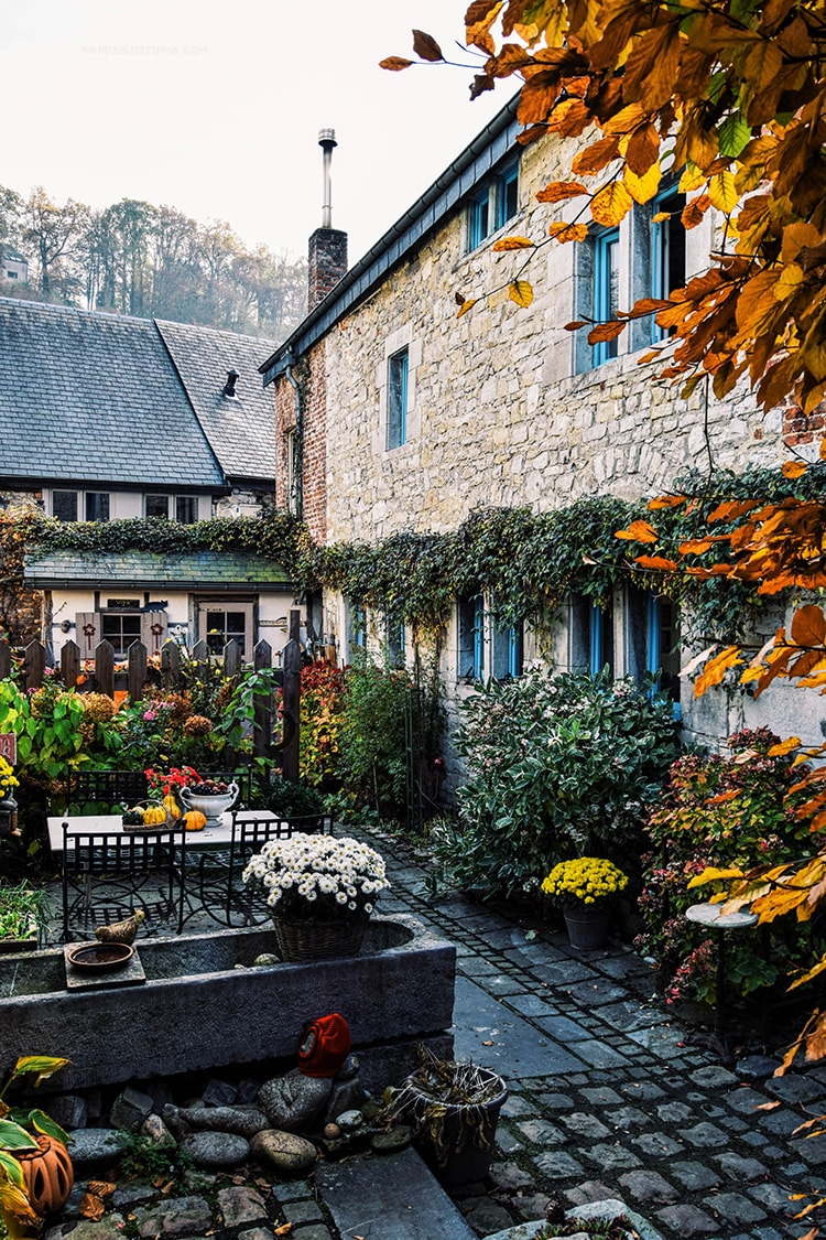 Beautiful view of a house in Durbuy, one of the most stunning places to include on your Belgian itinerary! #belgium #durbuy #wallonia