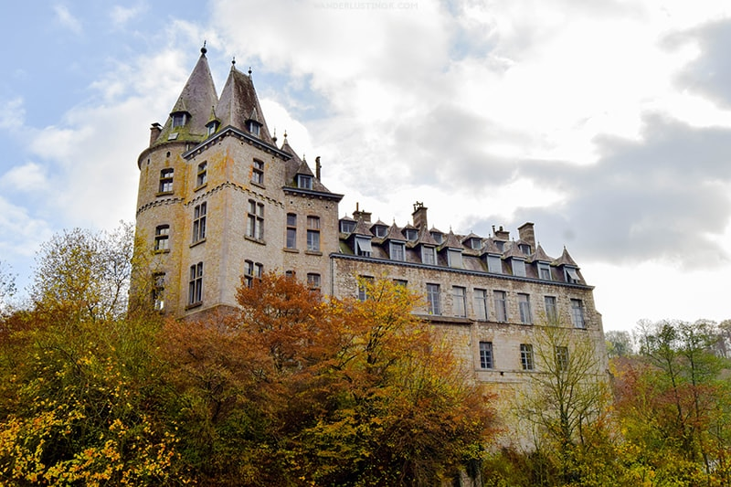 The private Durbuy Castle in Durbuy Belgium. One of the best things to see in Durbuy Belgium.