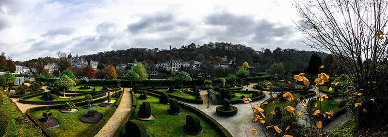 Beautiful view of Topiary Garden in Durbuy Belgium, the largest topiary garden in the world.
