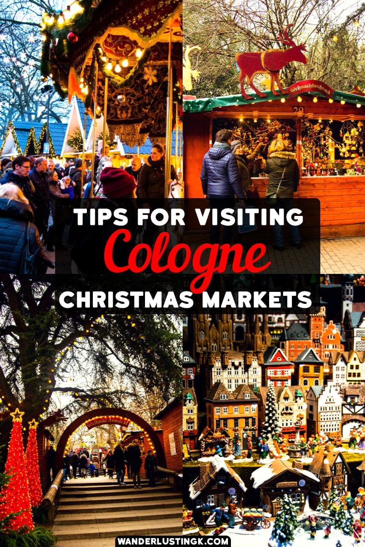 Why you should visit Cologne in December. Tips for visiting the German Christmas Markets in Cologne with map of locations! #Christmas #Germany #Cologne