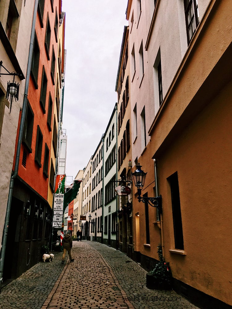 Colorful street in Cologne. Read about the best places to take photos in Cologne Germany with map.