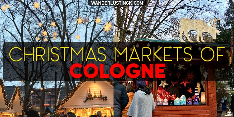 Tips for visiting Christmas markets in Cologne with locations of the Cologne Christmas markets map and things to do in Cologne in December.