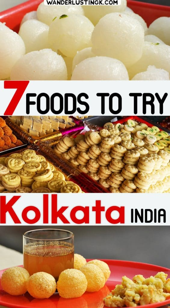 Visiting Kolkata (formerly Calcutta) India? Insider local tips for Kolkata on 7 Bengali foods to eat in Kolkata for foodies. #Kolkata #India #Food