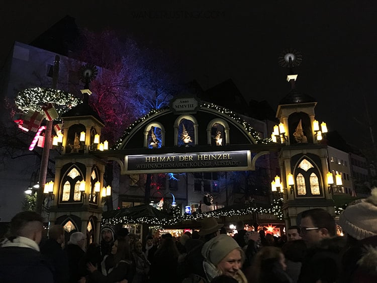 Read about the gnome market in cologne germany with map of locations of the christmas markets in Cologne with free walking tour.