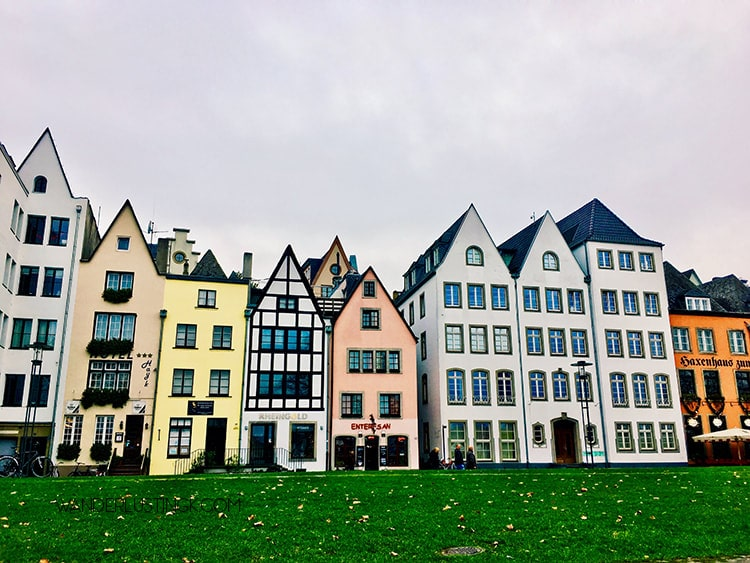 Cute houses in Cologne Germany. Read about the most instagrammable places in Cologne Germany!
