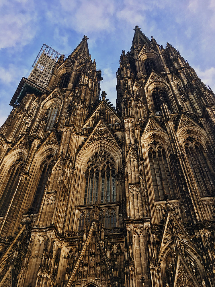 Cologne Cathedral in daylight. Read about the best things to do in Cologne in winter.