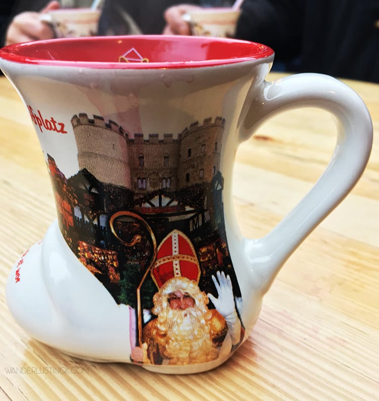 Christmas Market Mug from Cologne Germany 2016. Read about the Weihnachtsmarkt in Cologne Germany!