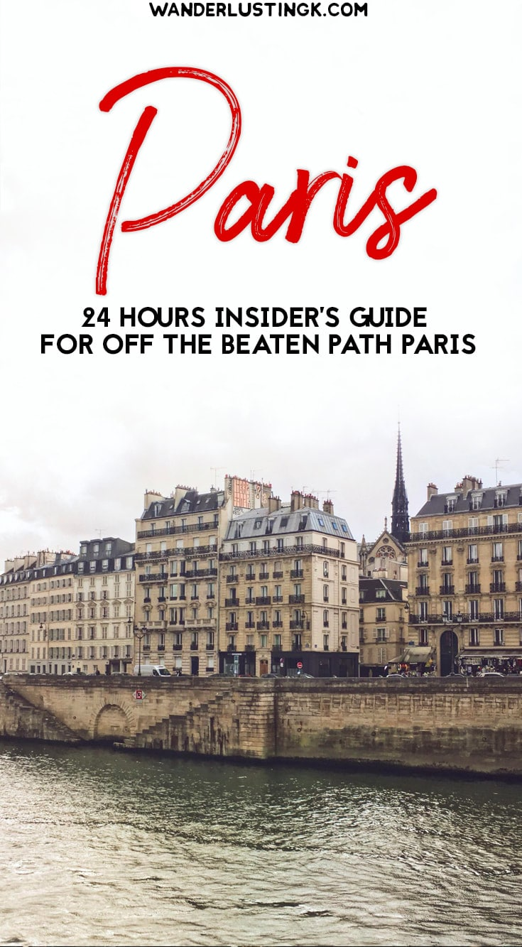Have 24 hours in Paris? Your guide to off the beaten path Paris with alternative things to do in Paris on a budget by a local. #Paris #France #Travel