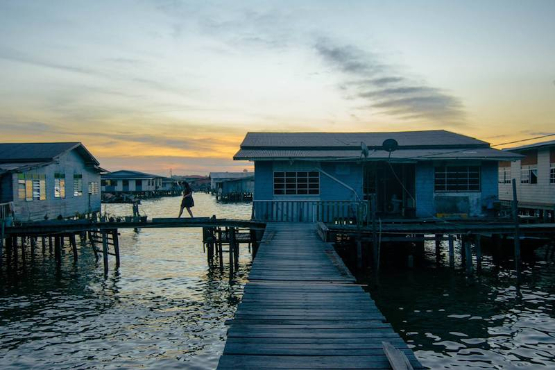 Sunset on Kampong Ayer water village in Brunei, one of the must-see attractions in Brunei.