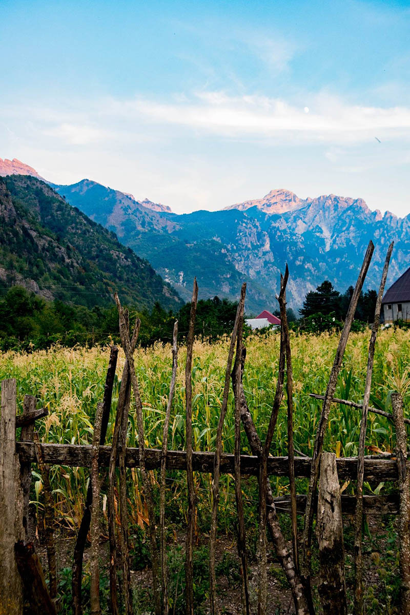 Photo of village of Theth in Albania. See beautiful photos of rural life in Northern Albania.
