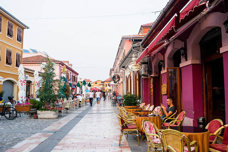 Photo of colorful city centre of Shkoder Albania. See why you should visit Albania.