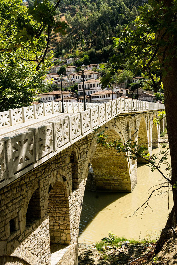 Beautiful photo of historic bridge in UNESCO recognized city of Berat Albania. #UNESCO #Travel #Albania