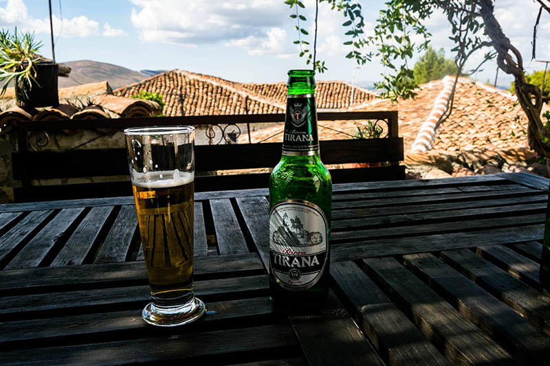 Photo of Tirana Beer in Berat Albania.