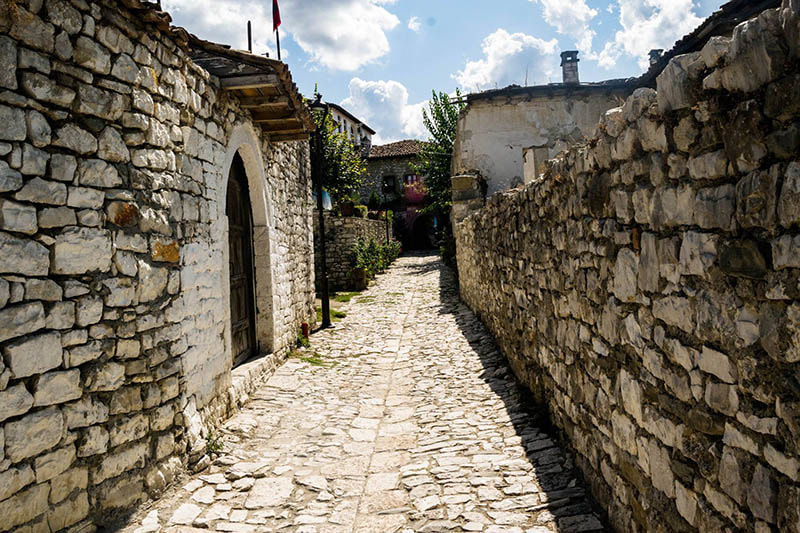 Photo of beautiful alleyways in Berat Albania, one of the most beautiful places in Albania.