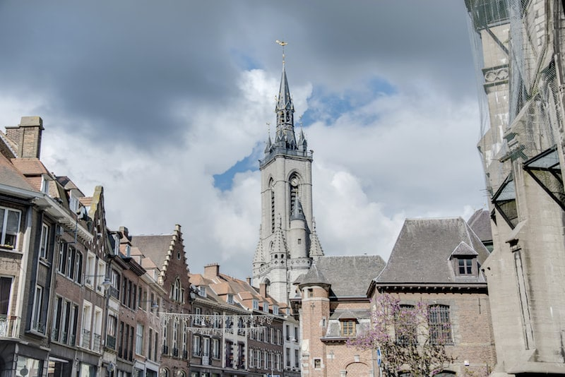 Photo of Tournai, one of the off the beaten path cities in Belgium to visit, perfect for a day trip from Brussels. Read about the most beautiful cities in Belgium, including best kept secrets!