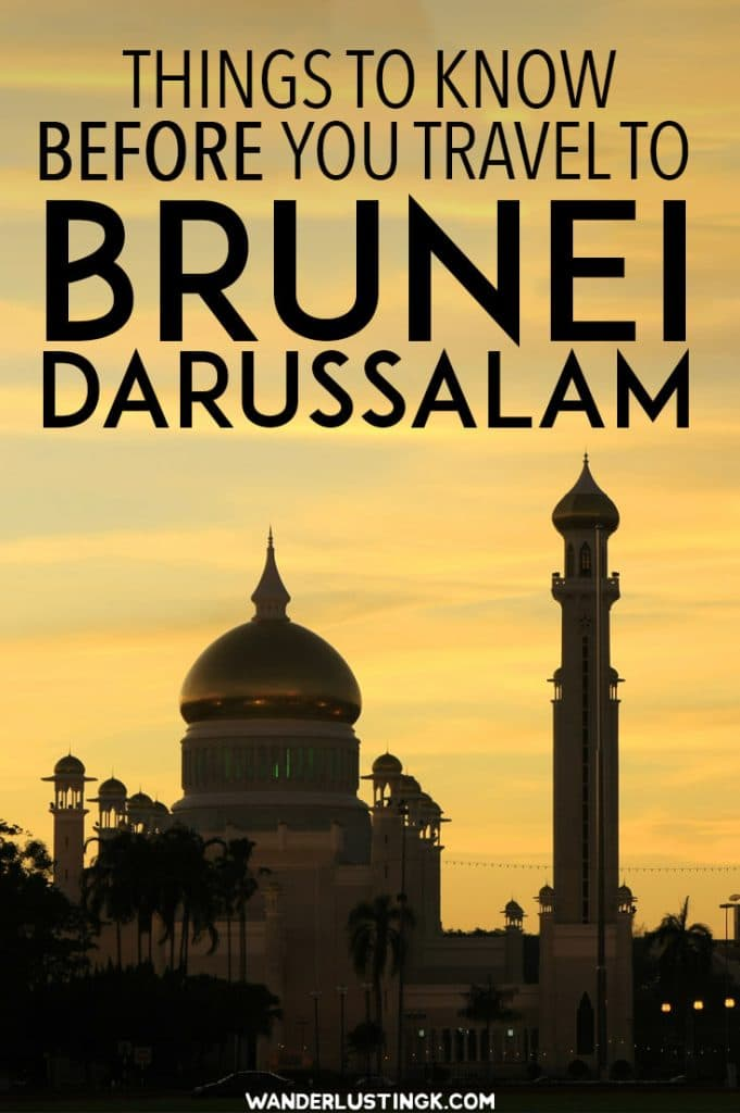 Planning to visit Brunei Darussalam, the sultanate on Borneo? Essential travel tips for travel in Brunei with fashion tips. #Borneo #Asia #Travel #Brunei