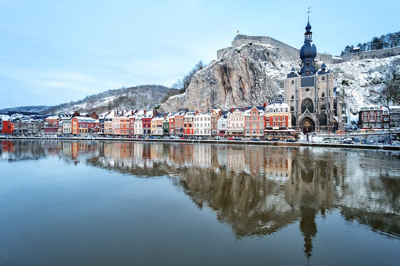 Photo of Dinant Belgium, one of the most beautiful places to visit in Belgium.