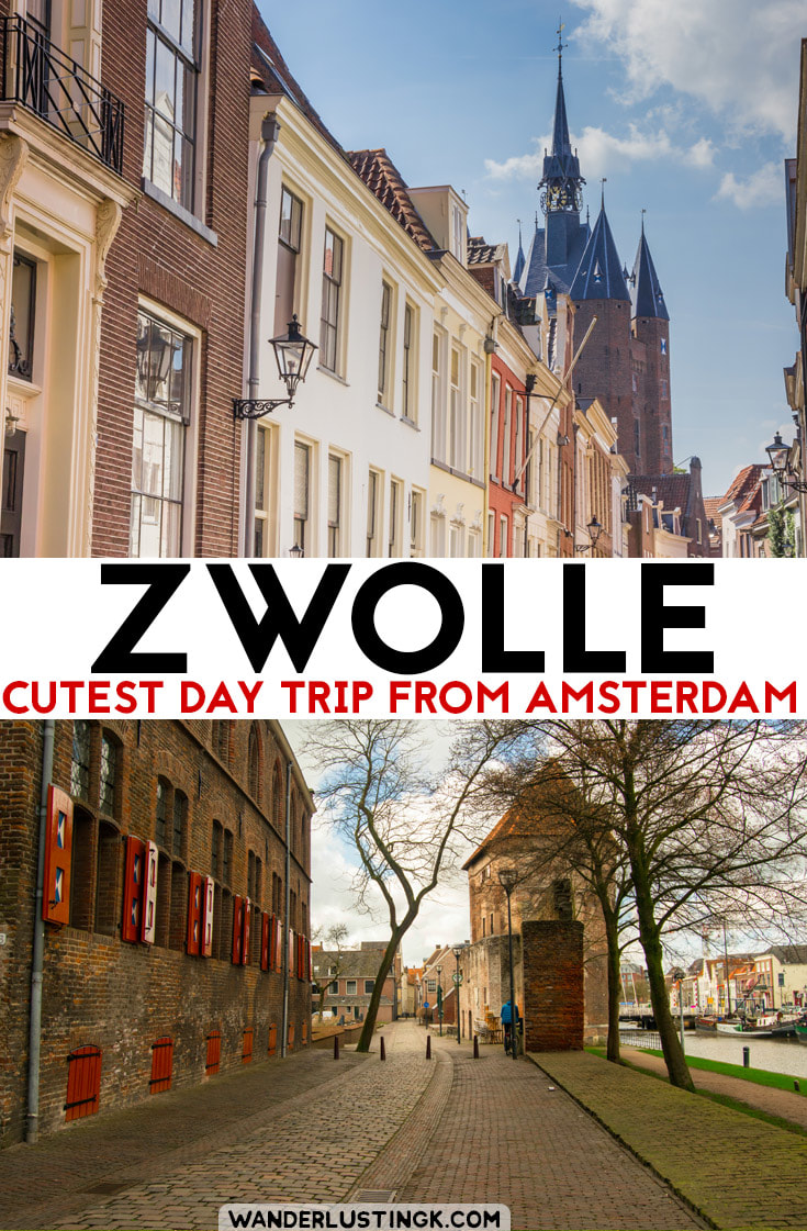 Read the best things to do in Zwolle, a perfect day trip from Amsterdam. See the most beautiful bookstore in the Netherlands! #Netherlands #Travel #Zwolle