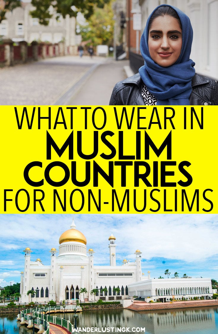 Tips on what to wear in Muslim majority countries by country for female travelers with info about Muslim coverings for women. #Travel #MiddleEast #Asia #Muslim