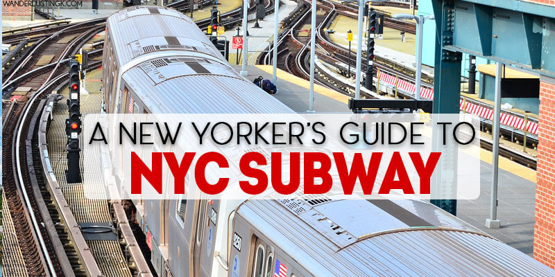 A New Yorker's ultimate guide to the New York City subway answering FAQs about how to ride the NYC subway in a New York City public transit guide for tourists. Includes insider tips for NYC subway, NYC subway etiquette, the best New York subway apps, & how to get from JFK to Manhattan by subway.