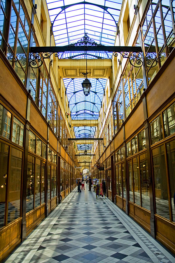 Photo of Passage du Grand Cerf, one of the most beautiful covered passages in Paris and a must-see for secret Paris with a free self guided walking tour of Paris. #France #Paris #Travel