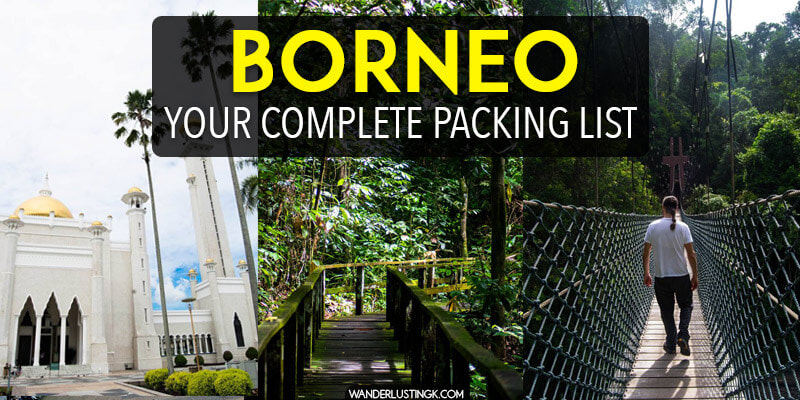 Planning your trip to Borneo? Get your complete Borneo packing list here. Find out what to pack for Borneo, what clothes to pack for jungle trekking, leech socks to avoid getting bit by leeches, what electronics to bring to Borneo, and preparations.