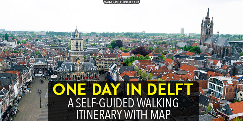 Visiting Delft? Plan your perfect day trip to Delft with a free self-guided walking tour of Delft with map. This one day Delft itinerary includes the best things to do in Delft and where to eat in Delft along an expertly researched free walking tour! Includes information on how to get from Amsterdam to Delft for a day trip.