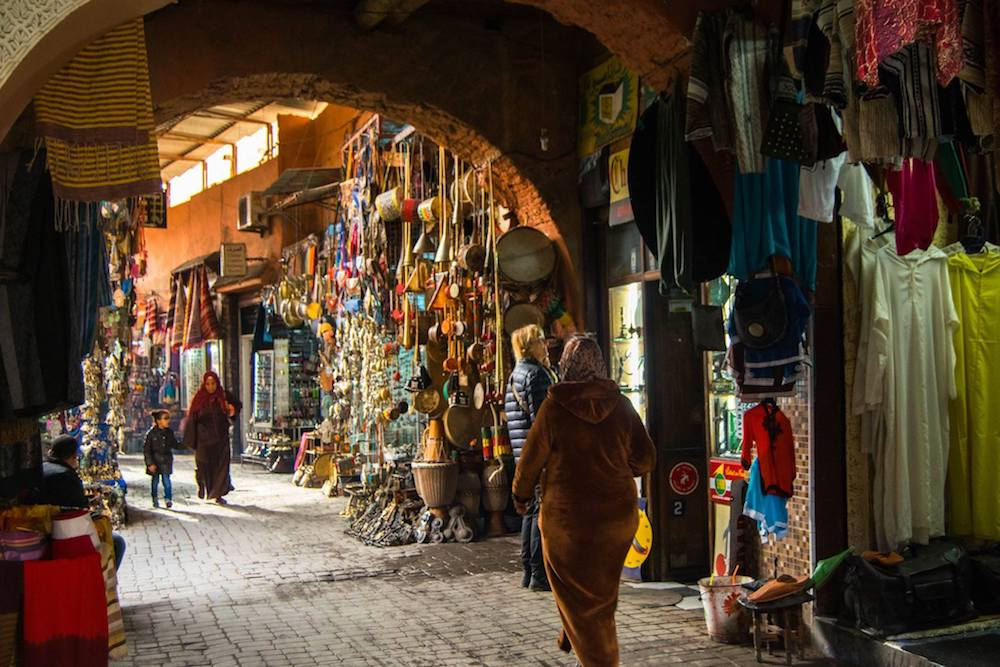 Medina in Marrakech. Read tips for what to do in Marrakech Morocco in three days.