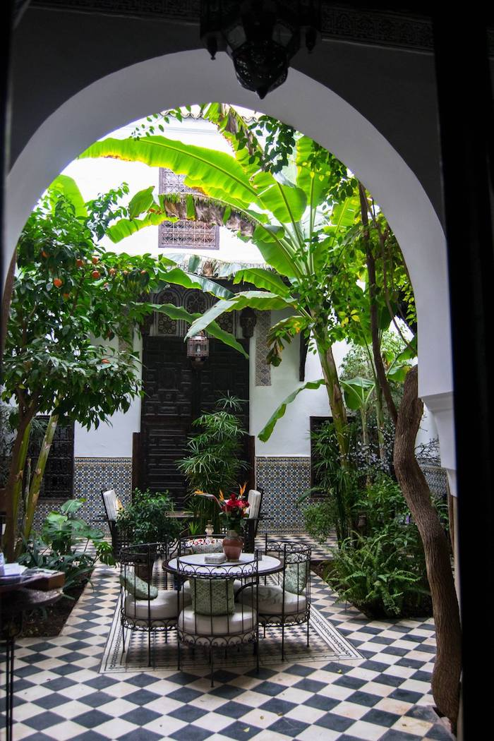 Riad in Marrakech, Morocco. Read the perfect itinerary for Marrakech! #Morroco #Riad #Travel #Marrakech