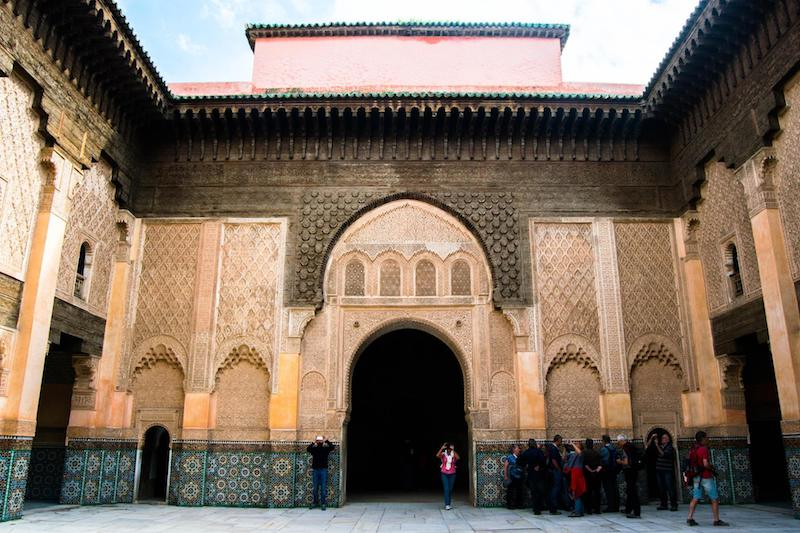Photo of Madrasa Ben Youssef, one of the best things to do in Marrakech Morocco. #travel #morroco