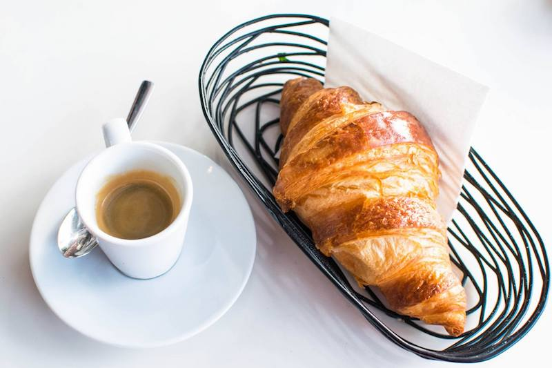 Breakfast in France. Read tips for saving money on accommodation in France with budget travel tips for France.