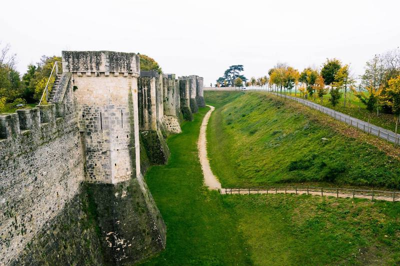 Ramparts of Provins, France. The medieval ramparts of Provins are one of the best things to do in Provins France, an easy day trip from Paris #History #Travel #france