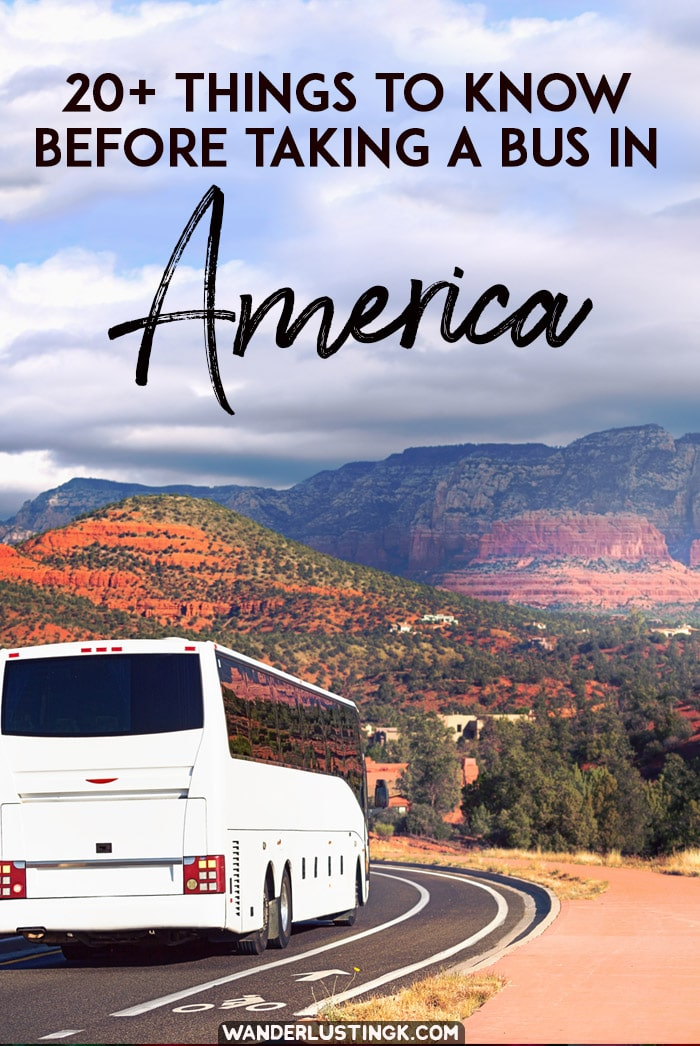 Considering traveling by bus in the United States? 20+ tips from an experienced American traveler on what to know about bus travel in the USA & what to pack for an overnight bus journey. #Travel #USA #UnitedStates