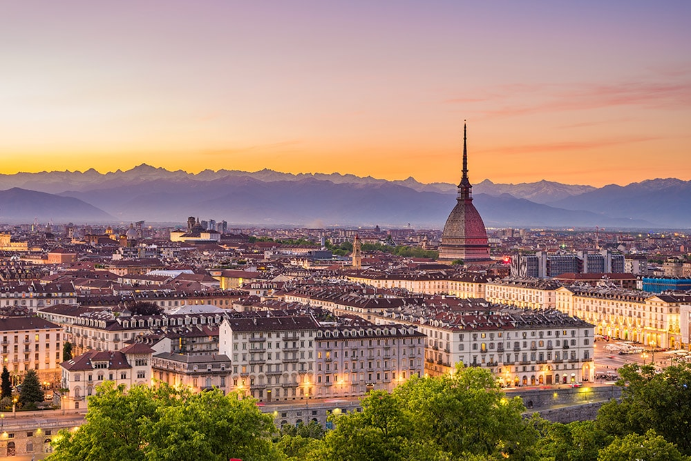 Cityscape of Torino Italy. Read why you need to visit Torino Italy.
