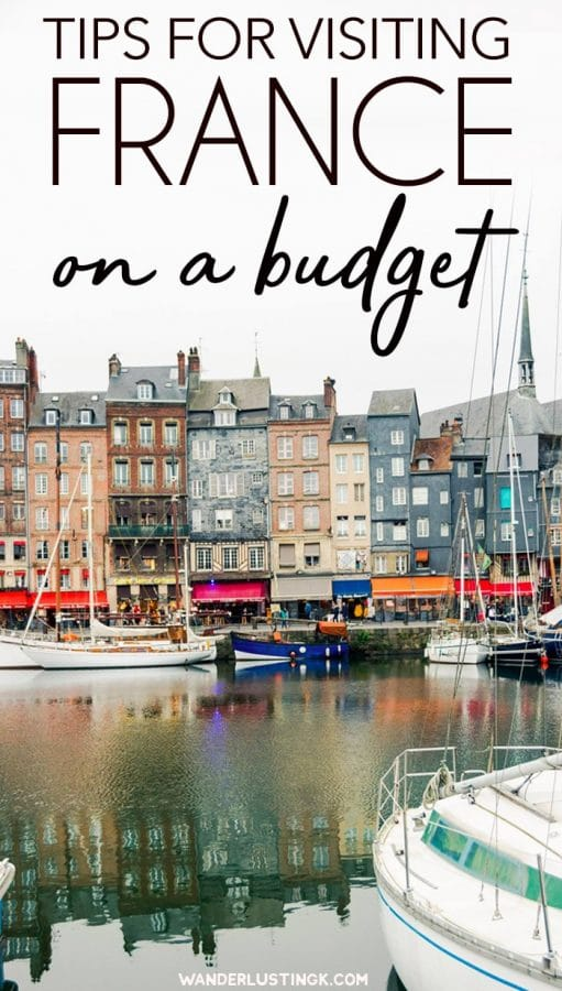 Traveling to Paris on a budget? Tips for visiting France on a budget with cost cutting travel tips for your trip to France to save money on hotels, food, and tours. #Travel #France #Europe #Paris