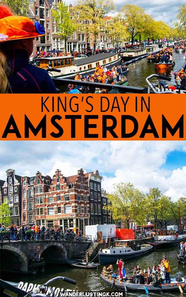 Interested in celebrating King's Day in Amsterdam? Tips for celebrating the best holiday in the Netherlands, Koningsdag! #Amsterdam #Netherlands #Europe #Travel